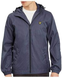 Lyle & Scott | Lyle And Scott Zip Through Hooded Jacket | Lyst