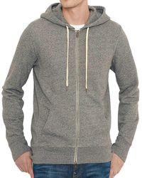 Levi's - Levis Original Zip Up Hoodie Women's Sweatshirt In Grey - Lyst