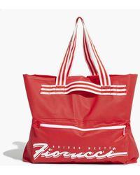 meet d6ee7 b58c5 adidas Originals - Adidas Originals Fiorucci Stripe Tote Bag - Lyst