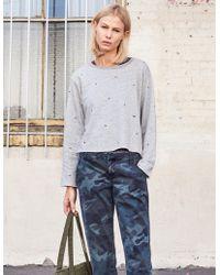 Sundry - Studs Raw Boxy Sweatshirt - Lyst