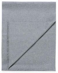 Sunspel - Extra Fine Merino Wool Scarf In Mid Grey Melange - Lyst