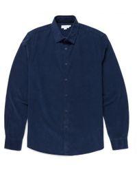 Sunspel - Men's Fine Corduroy Shirt In Navy - Lyst
