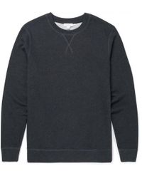 Sunspel - Men's Cotton Loopback Sweatshirt In Charcoal Melange - Lyst