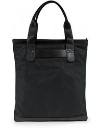 Sunspel - Leather / Nylon Tote Bag In Black - Lyst