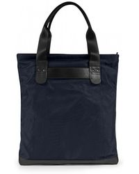 Sunspel - Leather / Nylon Tote Bag In Navy - Lyst