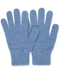 Sunspel - Women's Cashmere Gloves In Denim Blue - Lyst