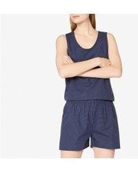 Sunspel | Women's Cotton Boxer Shorts With Polka Dot In Navy | Lyst