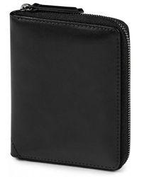 Sunspel - Leather Zip Wallet In Black - Lyst