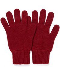 Sunspel - Cashmere Gloves In Gf Claret - Lyst