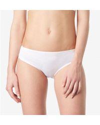 Sunspel - Women's Superfine Cotton Briefs In White - Lyst