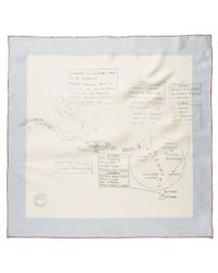 Sunspel - Women's Printed Silk Scarf In Natural - Lyst