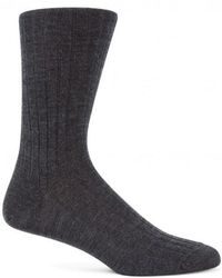 Sunspel - Men's Merino Cotton Socks In Charcoal Melange - Lyst