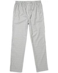 Sunspel - Men's Cotton Pyjama Bottoms In Check Light Grey - Lyst