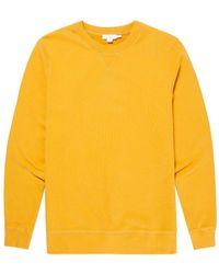 Sunspel - Men's Cotton Loopback Sweatshirt In Turmeric - Lyst