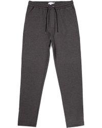 Sunspel - Men's Technical Slim Leg Track Trouser In Charcoal Melange - Lyst
