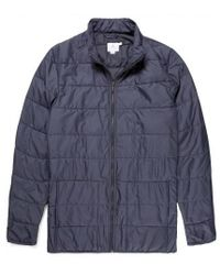 Sunspel - Men's X Lavenham Zip Through Quilted Jacket In Light Navy - Lyst