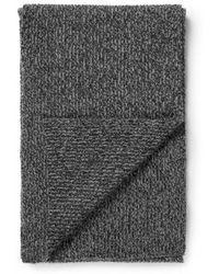 Sunspel - Cashmere Rib Scarf In Charcoal Marl - Lyst