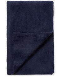 Sunspel - Cashmere Wool Scarf In Navy - Lyst