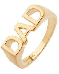 Maria Black - Dad Ring High Polished Gold - Lyst