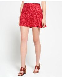 Superdry - 90's Martime Button Skirt - Lyst