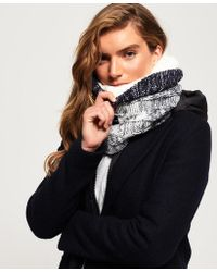 Superdry - Clarrie Cable Knit Snood - Lyst
