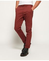 Superdry - International Slim Chino Trousers - Lyst