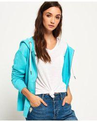 Superdry - Garment Dyed Zip Hoodie - Lyst