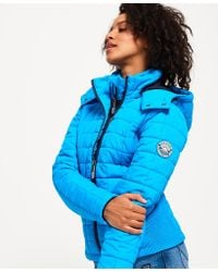 Superdry - Hooded Box Quilt Fuji Jacket - Lyst