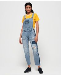 Superdry - Utility Dungarees - Lyst