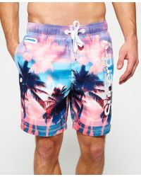 Superdry - Premium Neo Reflective Swim Shorts - Lyst