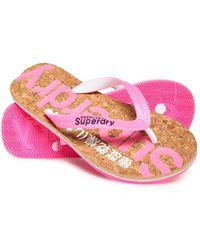 ce71cb872eae4f Superdry - Glitter Cork Flip Flops - Lyst