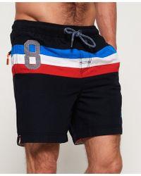 Superdry - Waterpolo Stripe Swim Shorts - Lyst