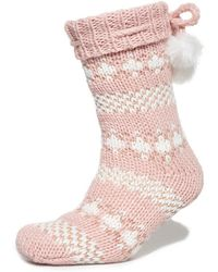 Superdry - Sparkle Fairisle Slipper Socks - Lyst