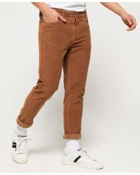 Superdry - Slim Tyler Cord Five Pocket Trousers - Lyst