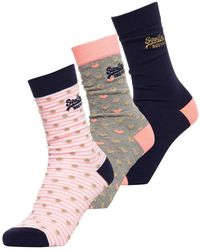 Superdry - Gold Heart Socks Triple Pack - Lyst