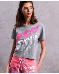 Superdry - Hyper Sport Label Crop T-shirt - Lyst