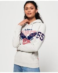 e54ed0867882 Superdry Original Eagle Hoodie in Yellow - Lyst