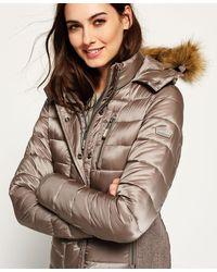 Superdry - Luxe Fuji Double Zip Hooded Jacket - Lyst