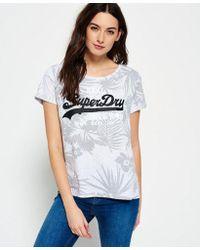 67299cff431b4 Superdry - Vintage Logo Hawaiian Boyfriend T-shirt - Lyst