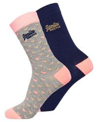 Superdry - All Over Sparkle Socks Double Pack - Lyst