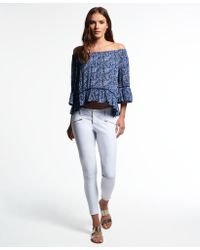 Superdry - Leila Skinny Cropped Jeans - Lyst