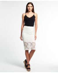 Superdry - Eastern Lace Pencil Skirt - Lyst