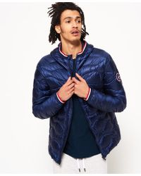 Superdry - Wave Quilt Hooded Jacket - Lyst