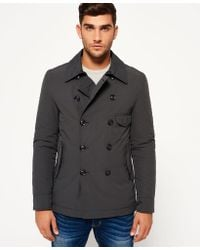 Superdry - Blockade Aviator Pea Coat - Lyst