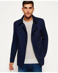 Superdry - Blockade Bedford Pea Coat - Lyst