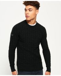 Superdry - Harlo Cable Crew Jumper - Lyst