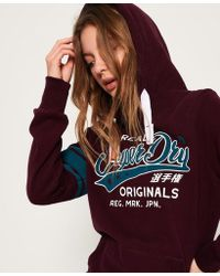 0607e8ee29a1 Superdry - First Team Hoodie - Lyst