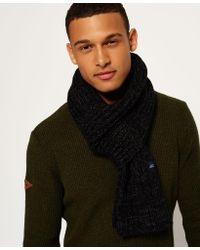 Superdry - Super Cable Scarf - Lyst
