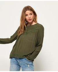 Superdry - Sara Lace Top - Lyst