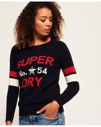 Superdry - Varsity Intarsia Knit Jumper - Lyst